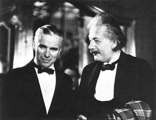 Chaplin und Einstein 1931