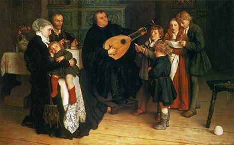 Gustaf1470-Adolph-Spangenberg-Luther_im_Kreise_seiner_Familie_musizierend